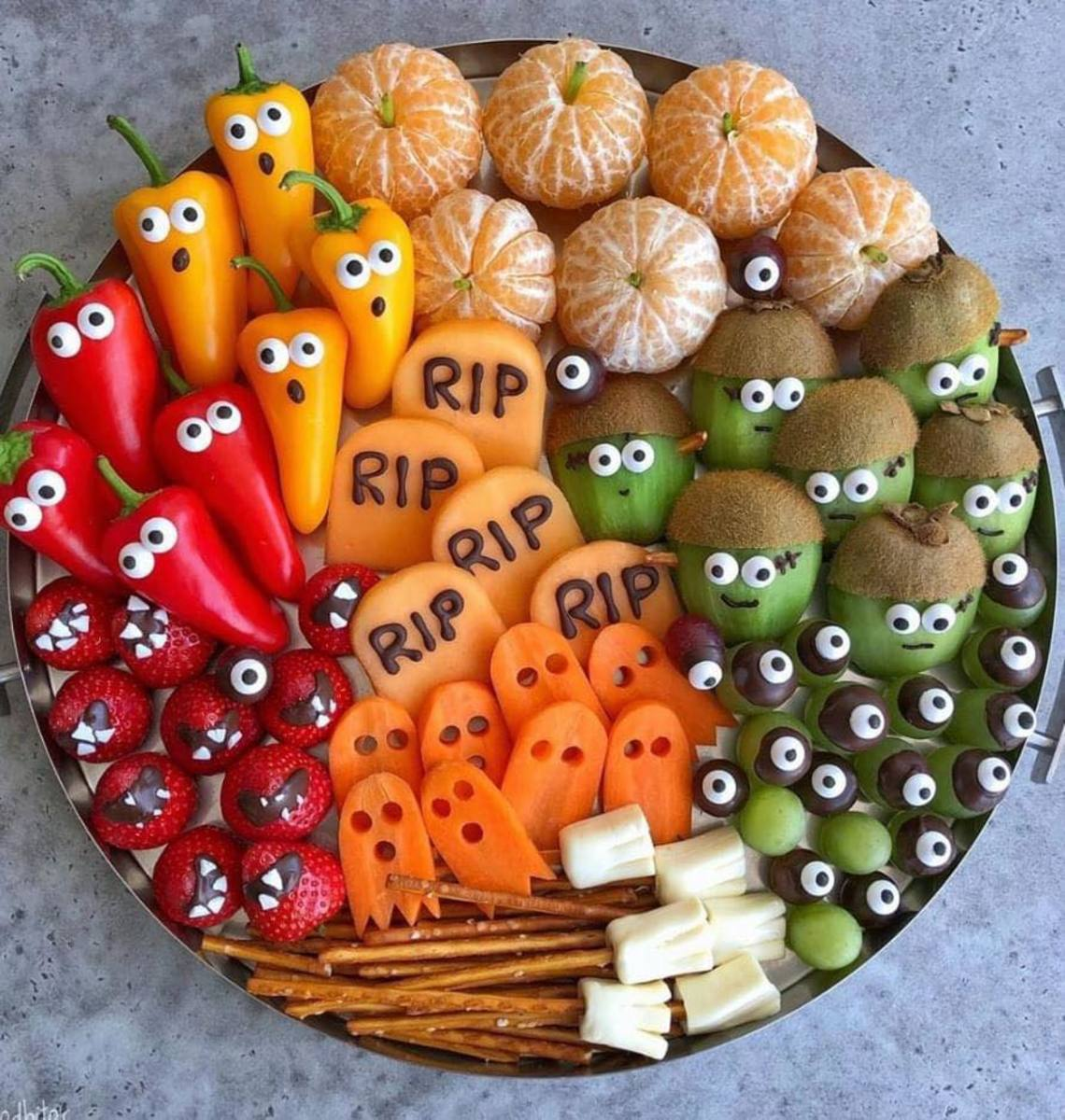 Halloween Appetizer Ideas With Fruits And Vegetables