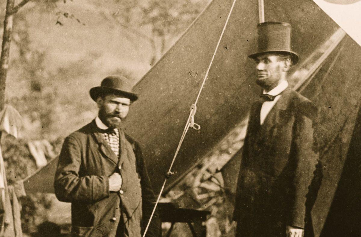Alan Pinkerton with Abraham Lincoln