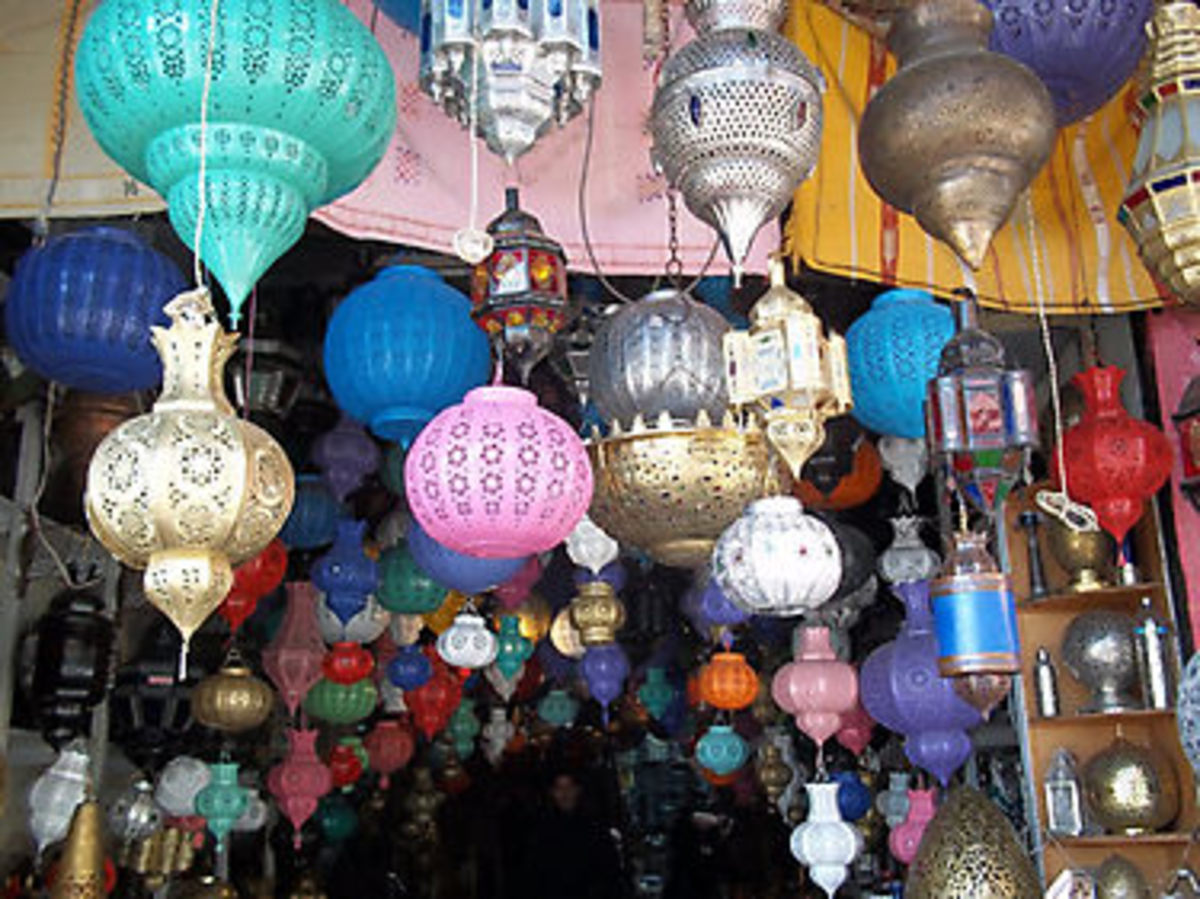 Roadside Lantern store in Morocco