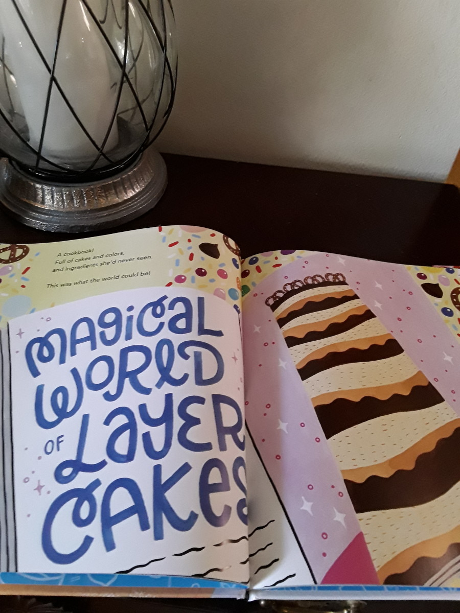 A brand new recipe book for cakes