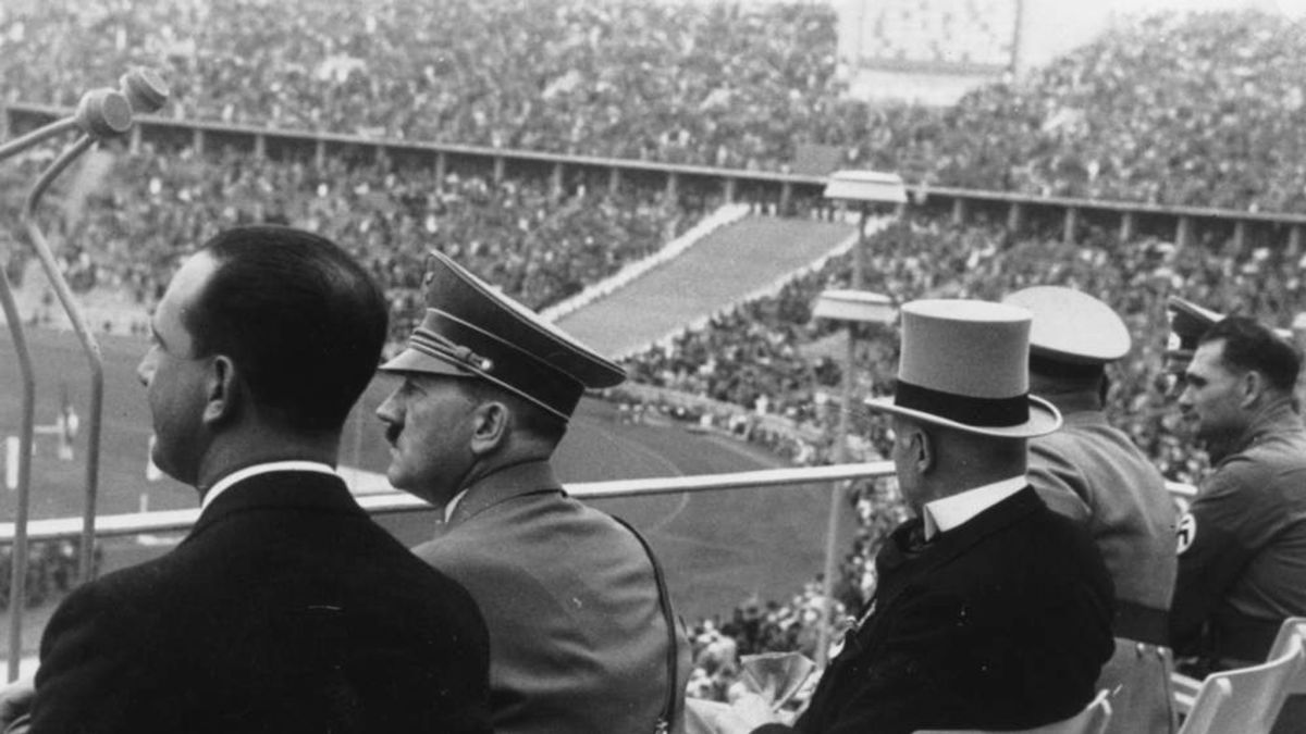 Hitler at 1936 Olympic Track and Field Events