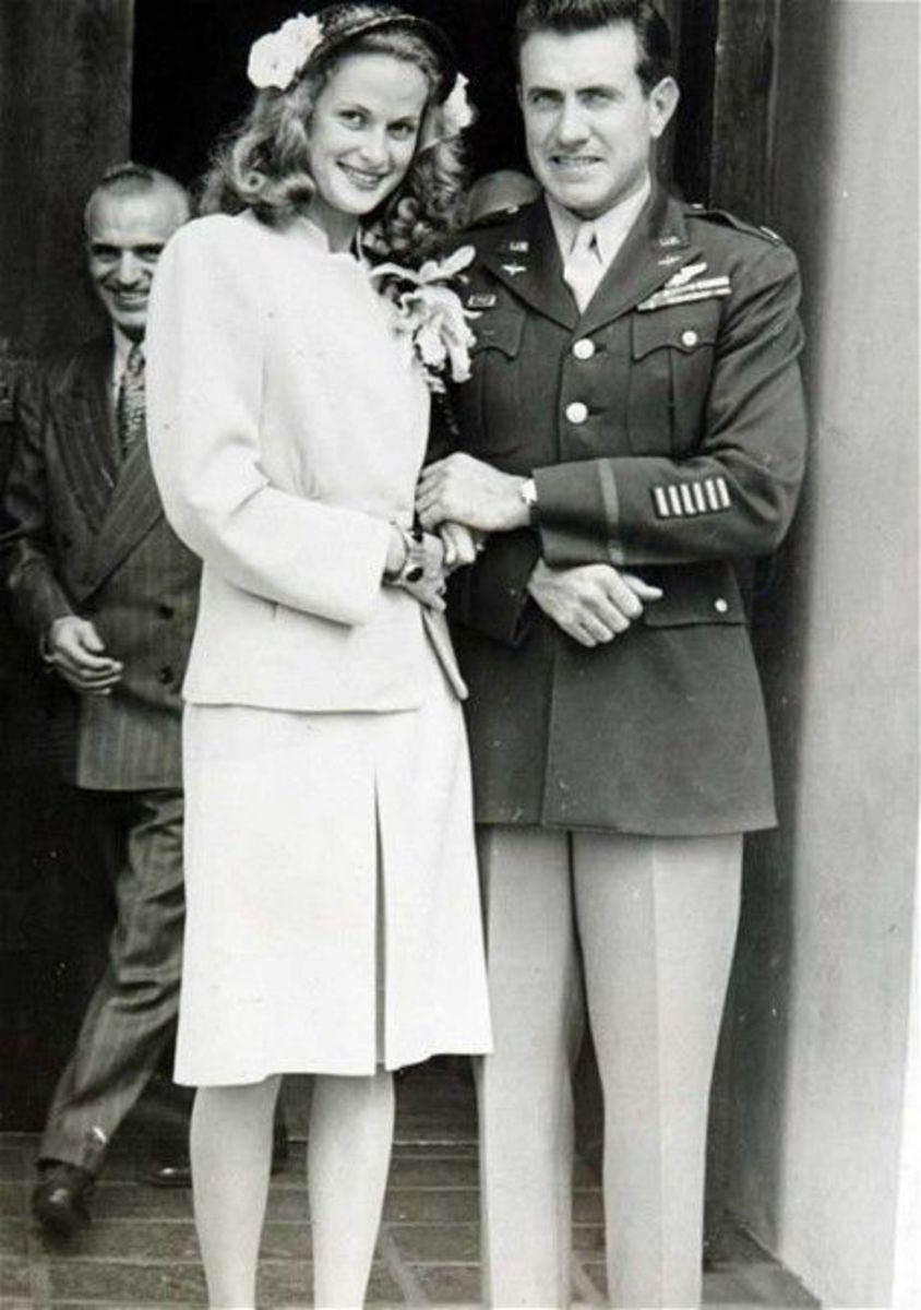 Louis Zamperini getting married to Cynthia Applewhite
