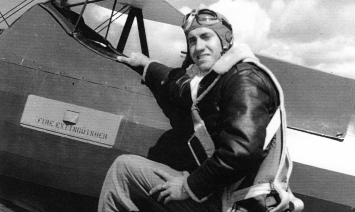 Louis Zamperini as bombardier