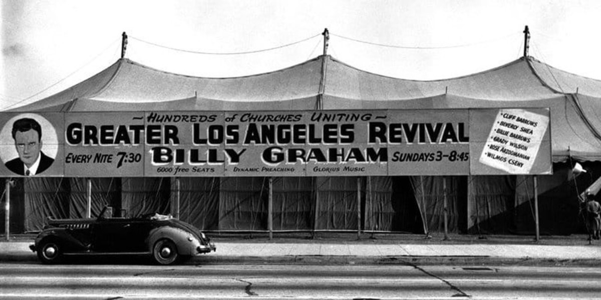 Billy Graham revival tent