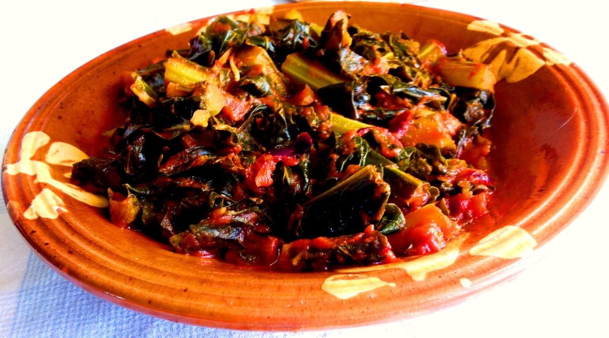 Delicious Cauliflower Leaves in Italian Tomato Sauce Recipe