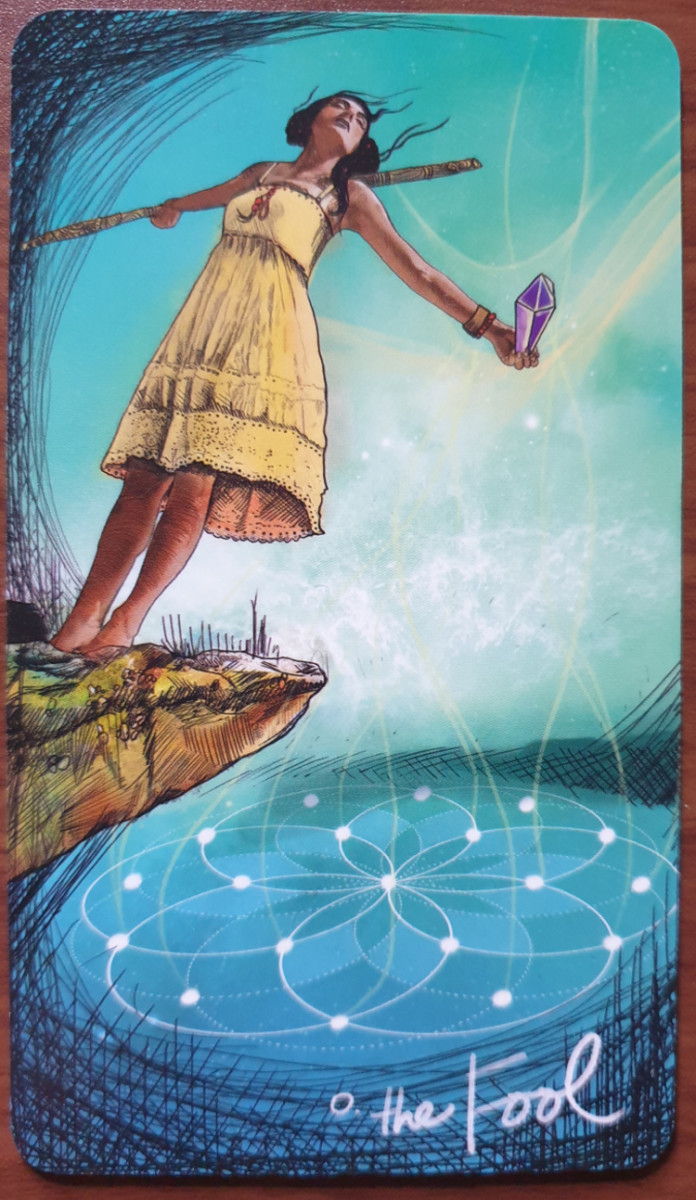 The Fool from the Light Seer's Tarot. Photo by author.