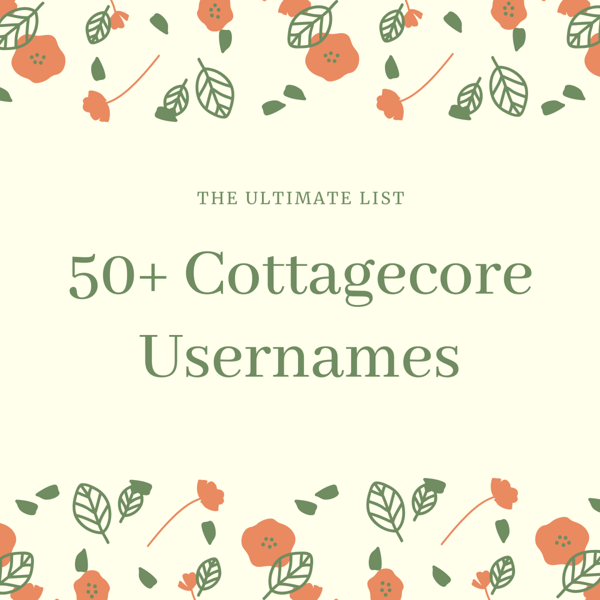 Discover over 50 cottagecore usernames in this in-depth guide!