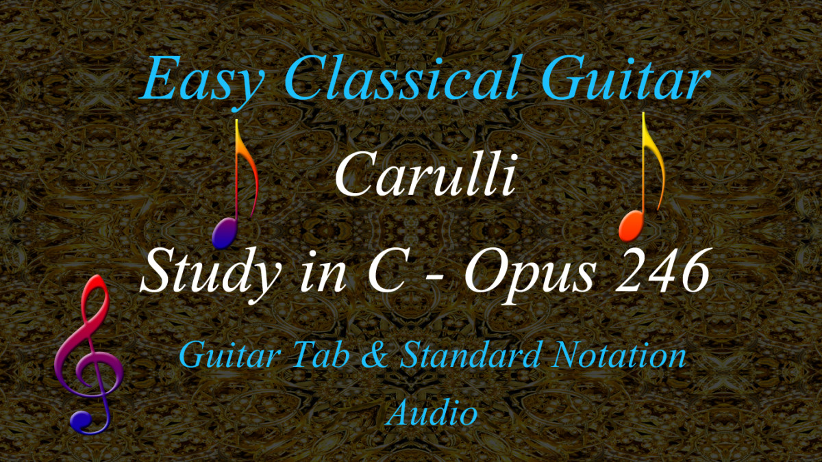 Easy Classical Guitar | Carulli: Poco Allegretto from Opus 246 - Guitar Tab, Standard Notation and Audio