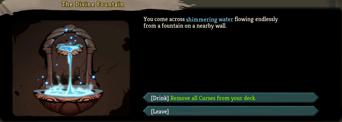 This event removes all curse cards from your hand.