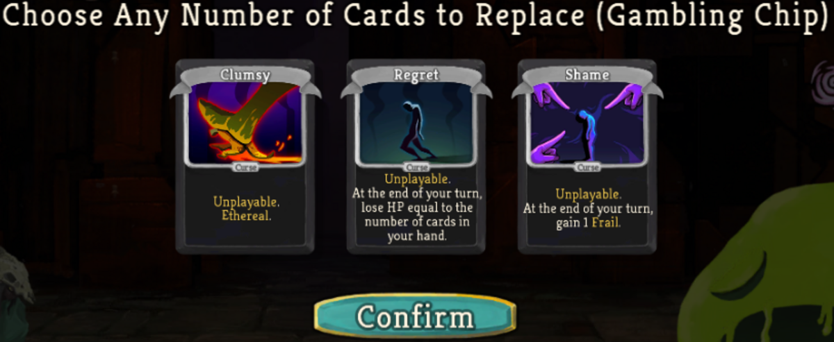 I can discard the curse cards in my hand.