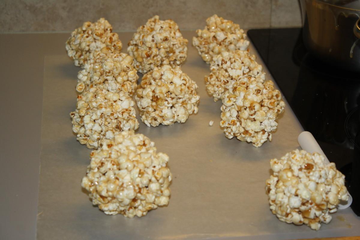 My grandma was famous in our neighborhood for her Halloween popcorn balls.