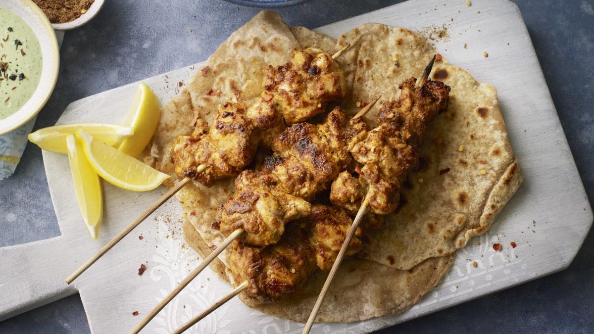 Mughalai masala chicken tikka kebab