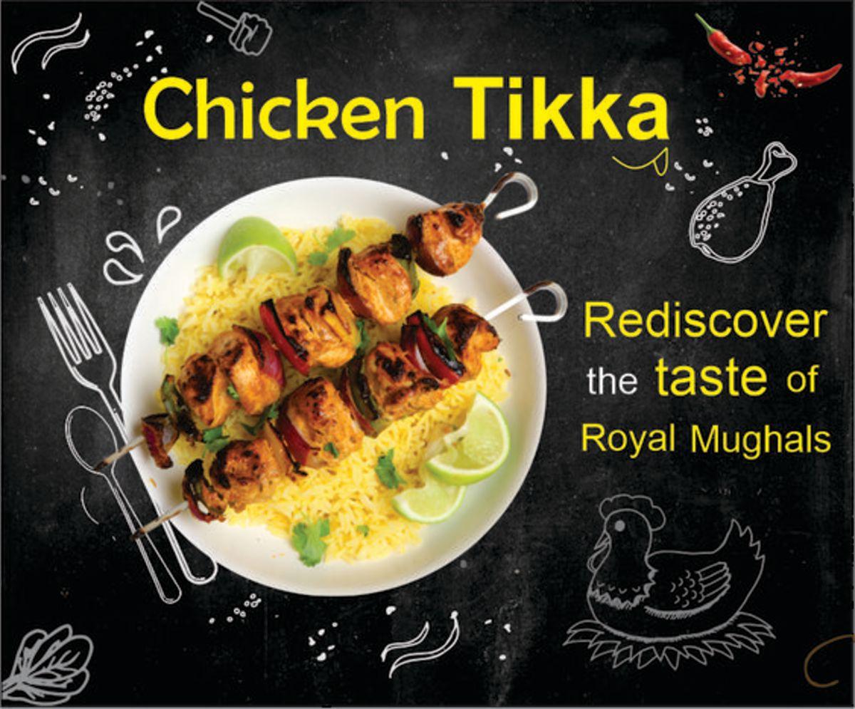 Chicken tikka with flavoured rice