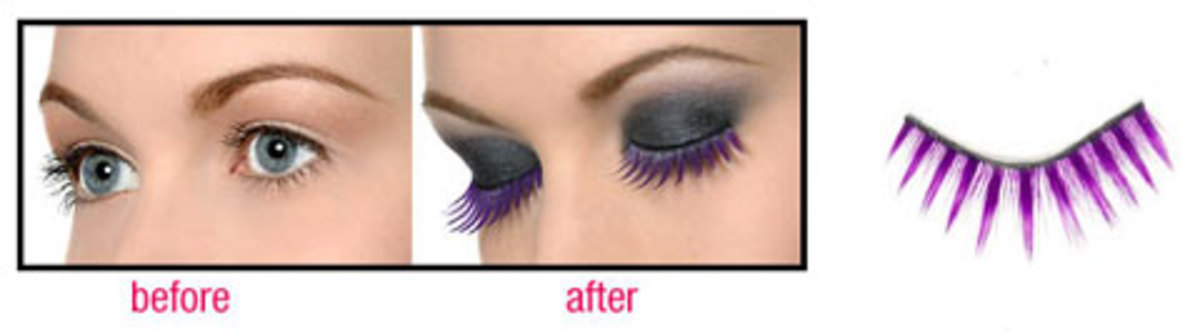 Make your mermaid have purple lashes!
