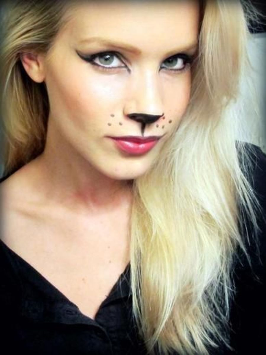 This kitty makeup is very simple to do and will only take a few basic makeup items that every girl has.