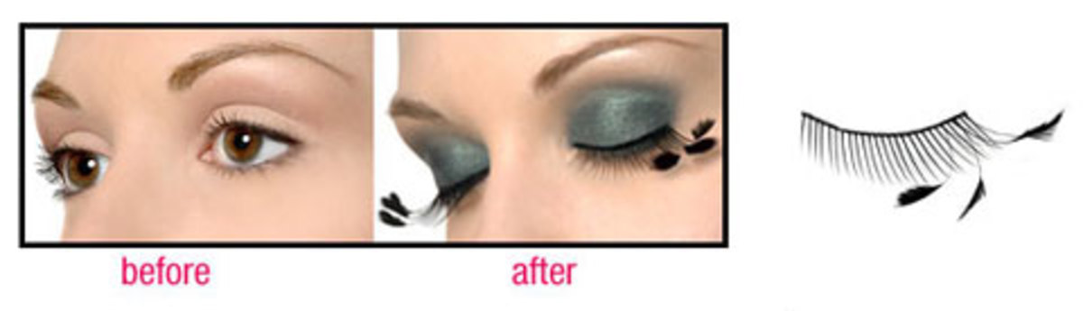 Imagine your mermaid with fluttering feathers for eye lashes!