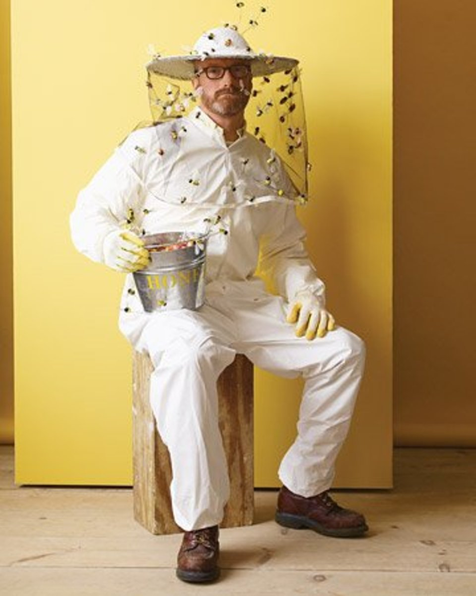 Beekeeper costume. Check the link below for instructions. Source:  MarthaStewart.com
