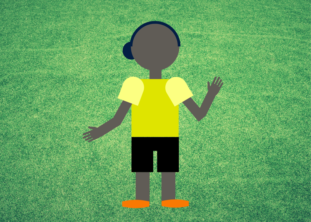 When a ref holds one palm up and one down, it indicates illegal dribbling.