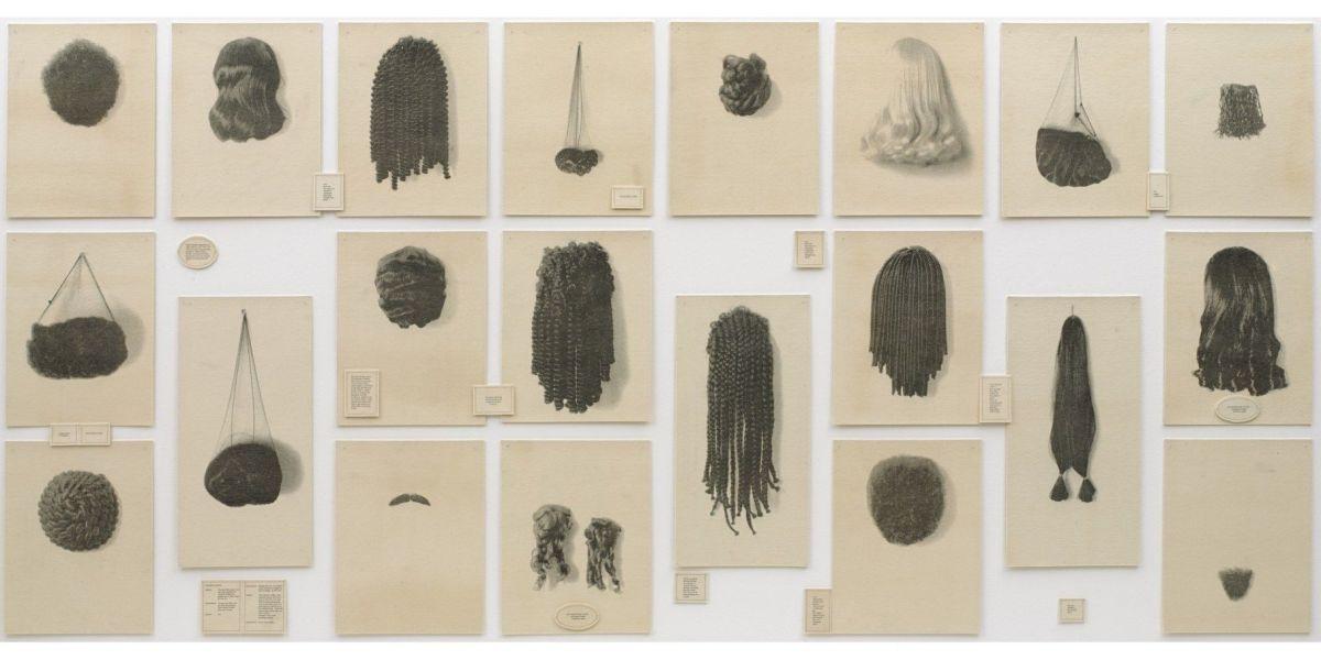 """Wigs"" by Lorna Simpson"
