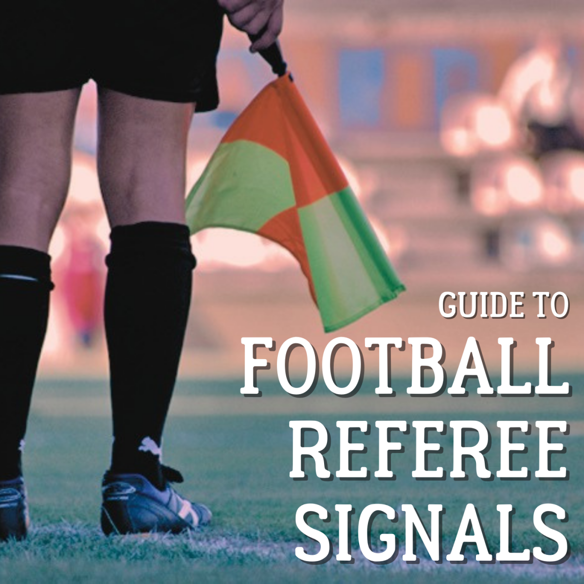 What does it mean when the ref raises one arm? How about when they touch one of their hands? Learn about referee signals in football or soccer with this illustrated guide.