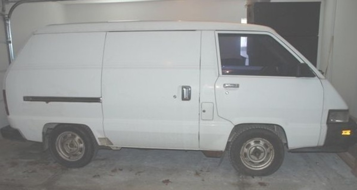 A white Toyota Cargo van, similar to the one that was seen in the Port St. Joe parking lot. Photo courtesy of Google.