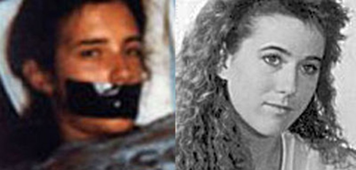 Polaroid picture next to a photograph of Tara Calico who has been missing since September 1988. Photograph courtesy of National Center for Missing Adults.