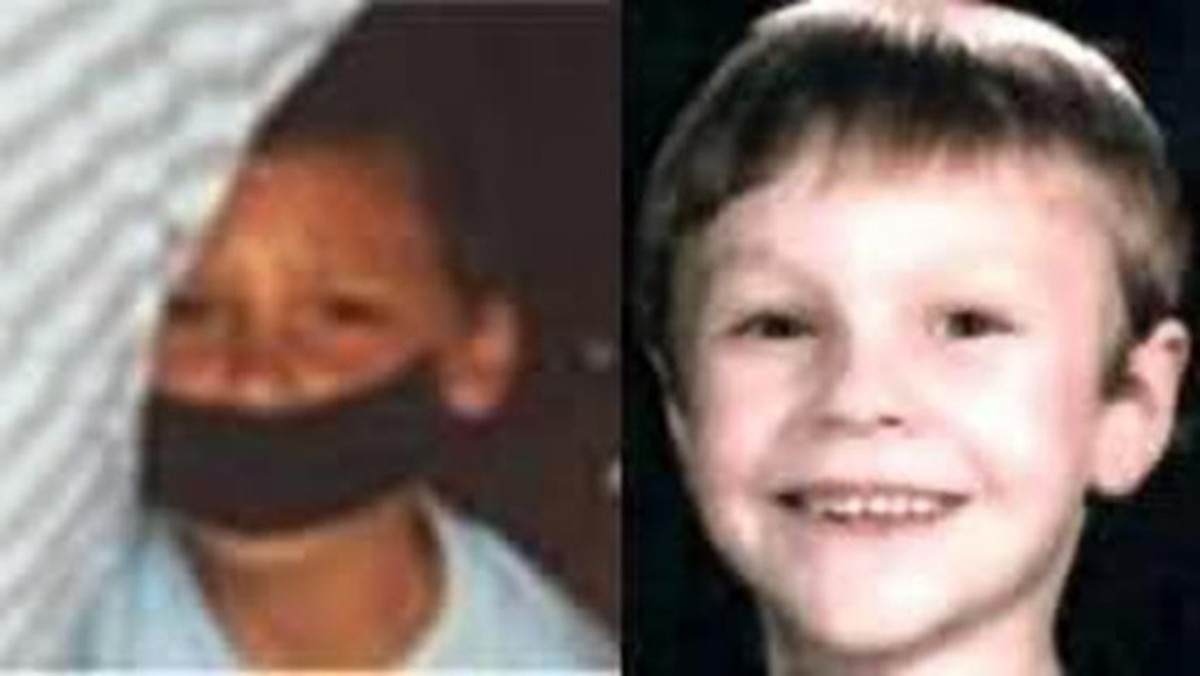 A Polaroid photograph of an unidentified boy and Michael Henley, missing since April 1988, but later found deceased.