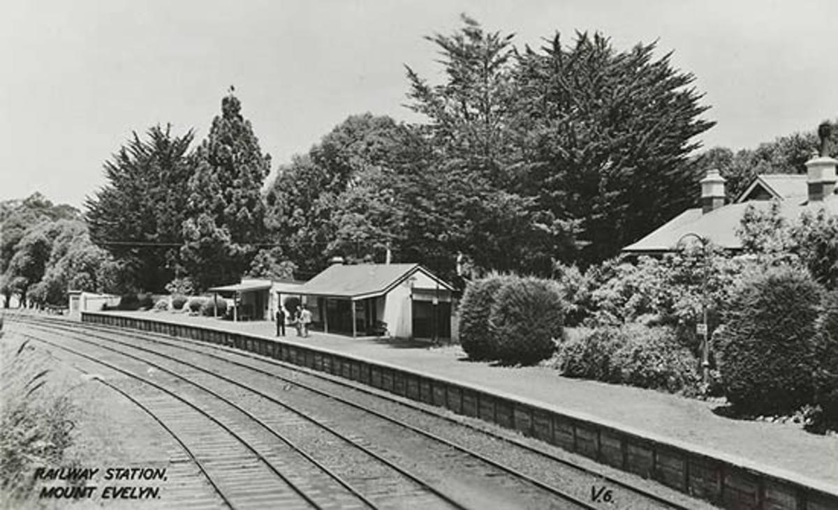 Mount Evelyn railway station, Melbourne, Australia, 1920