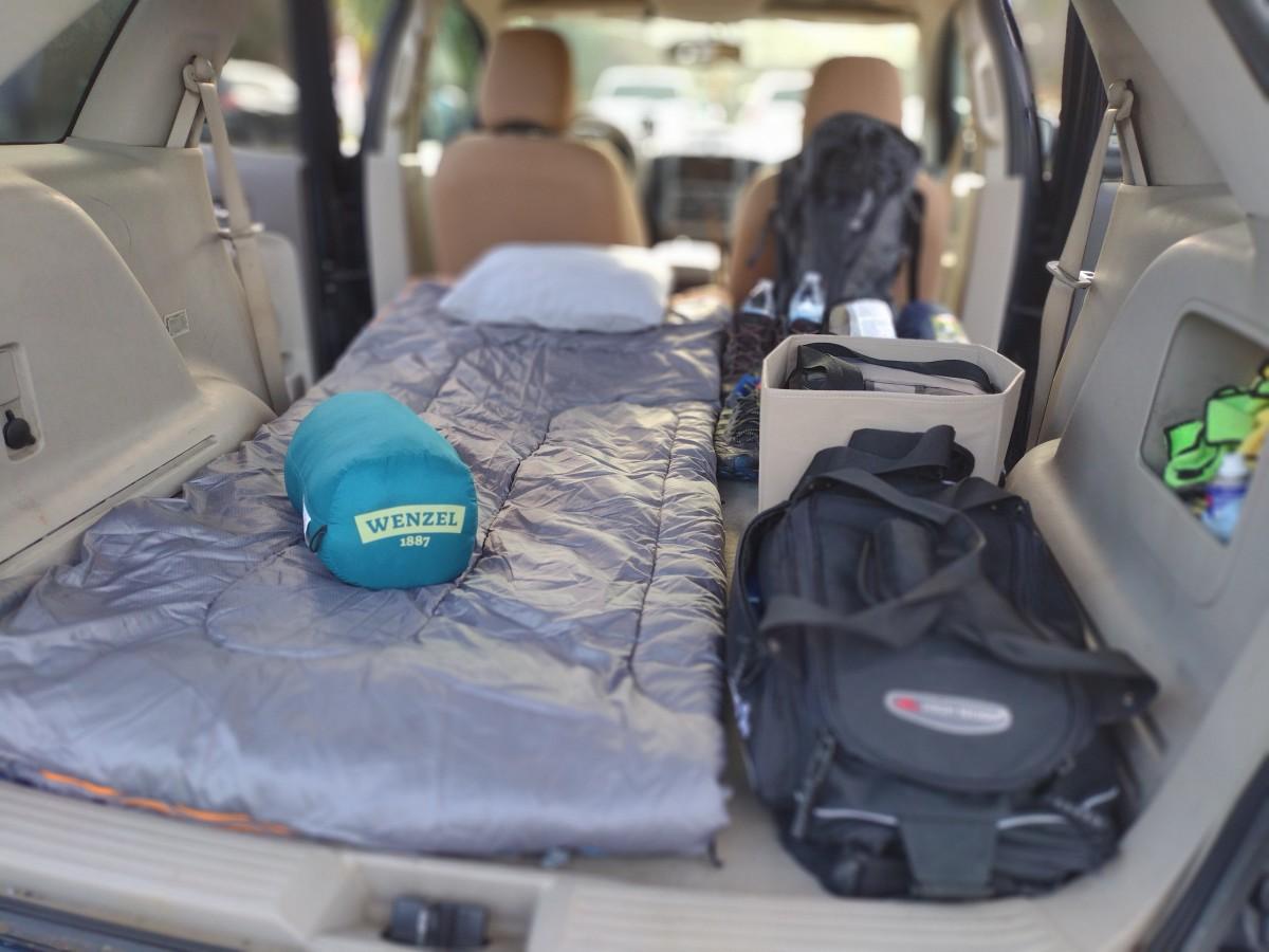 My budget car camping sleep system
