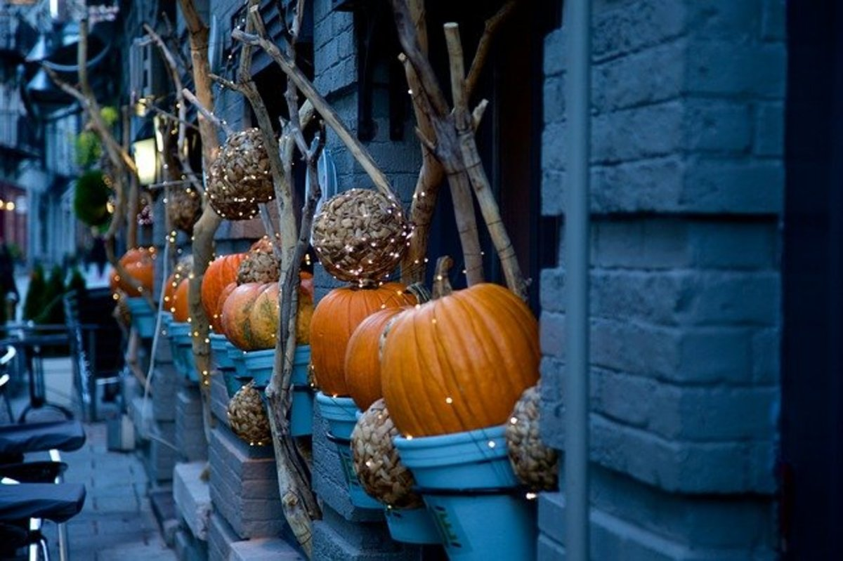 The town slowly prepares for the upcoming holiday- Halloween.