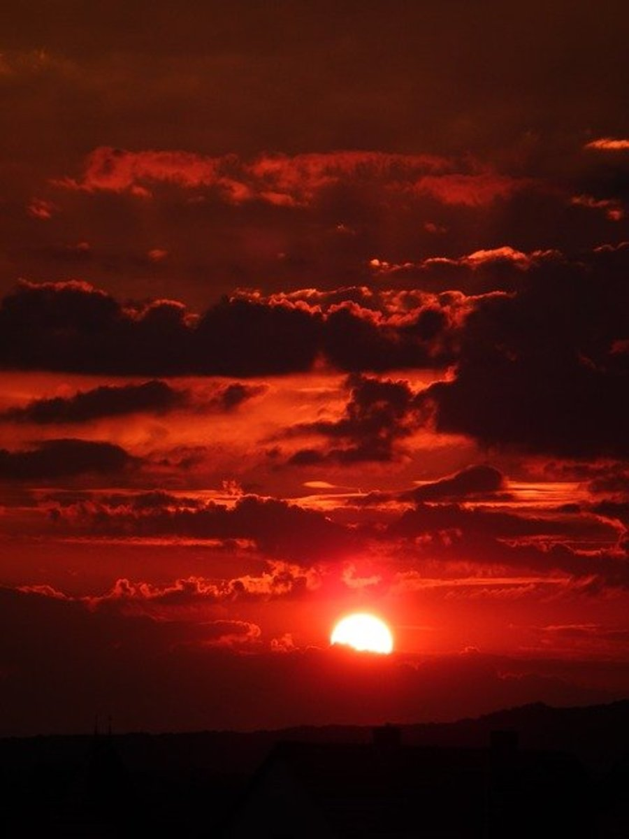 A beautiful sunset hides a chilling fact. From those who are unaware, that is.