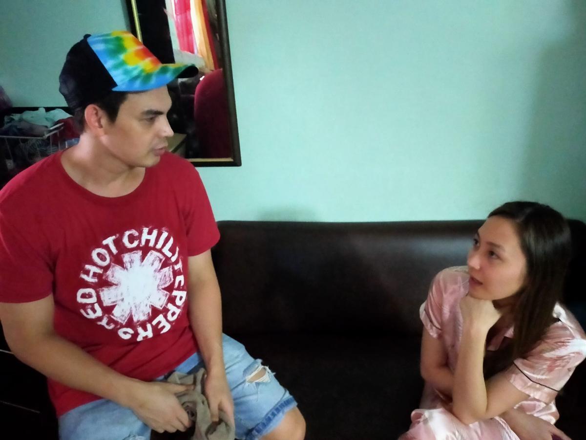 Filipino Men and Women During Conversation