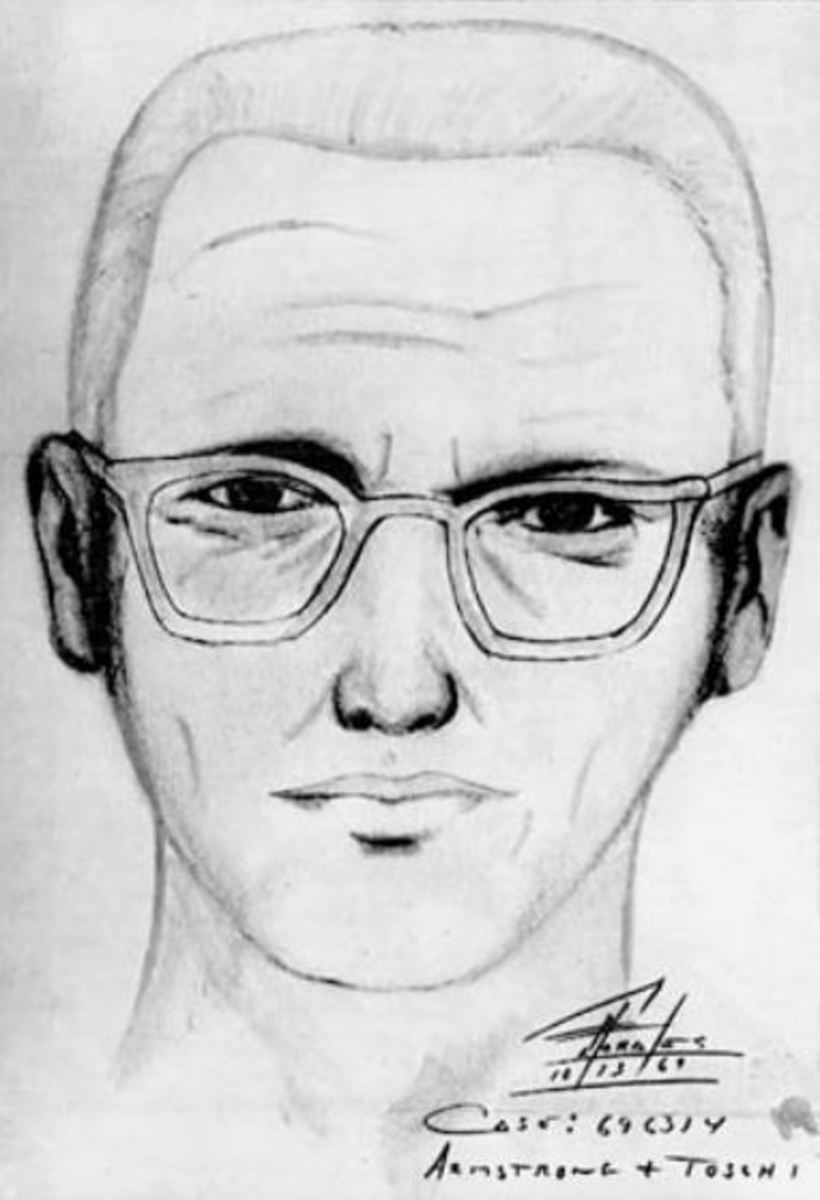Public domain sketch believed to be in the likeness of the Zodiac Killer.