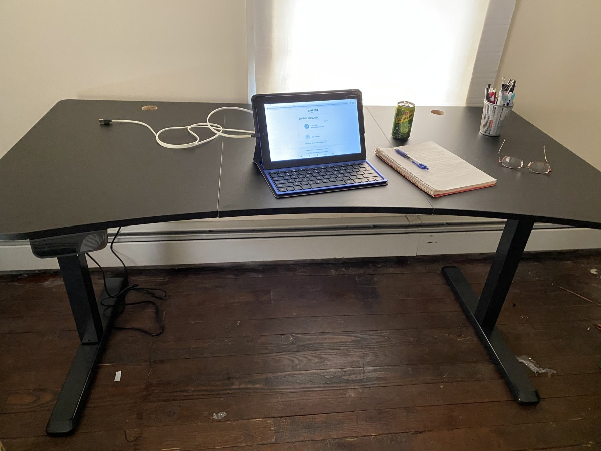 Setting up my permanent  writing area