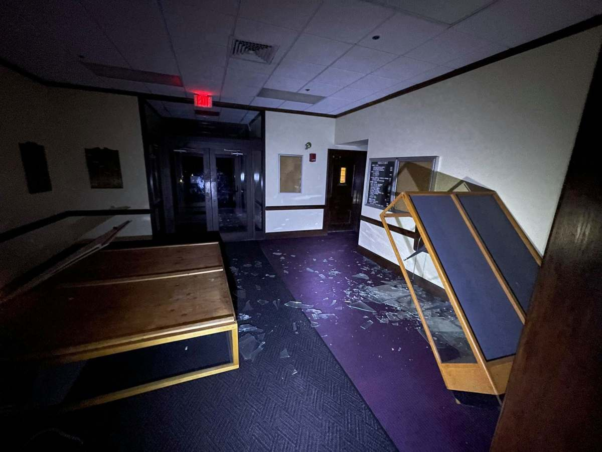Senseless vandalism still plagues what was Dowling College in Oakdale.