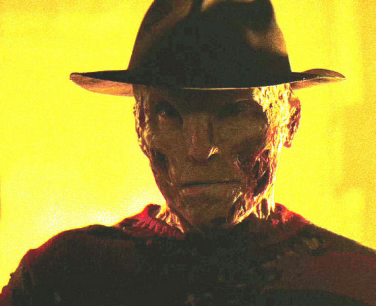 A shot of the new Freddy Krueger from the 2010 remake starring Jackie Earle Haley as Freddy.
