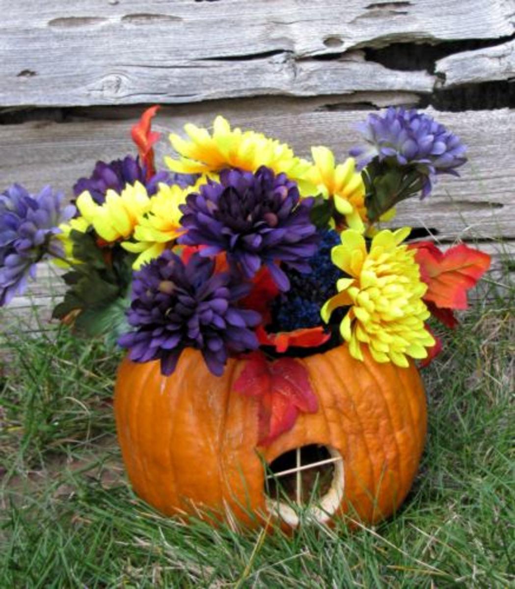 Pumpkin Vase Copyright 2011 (c) Pirkko Dyer