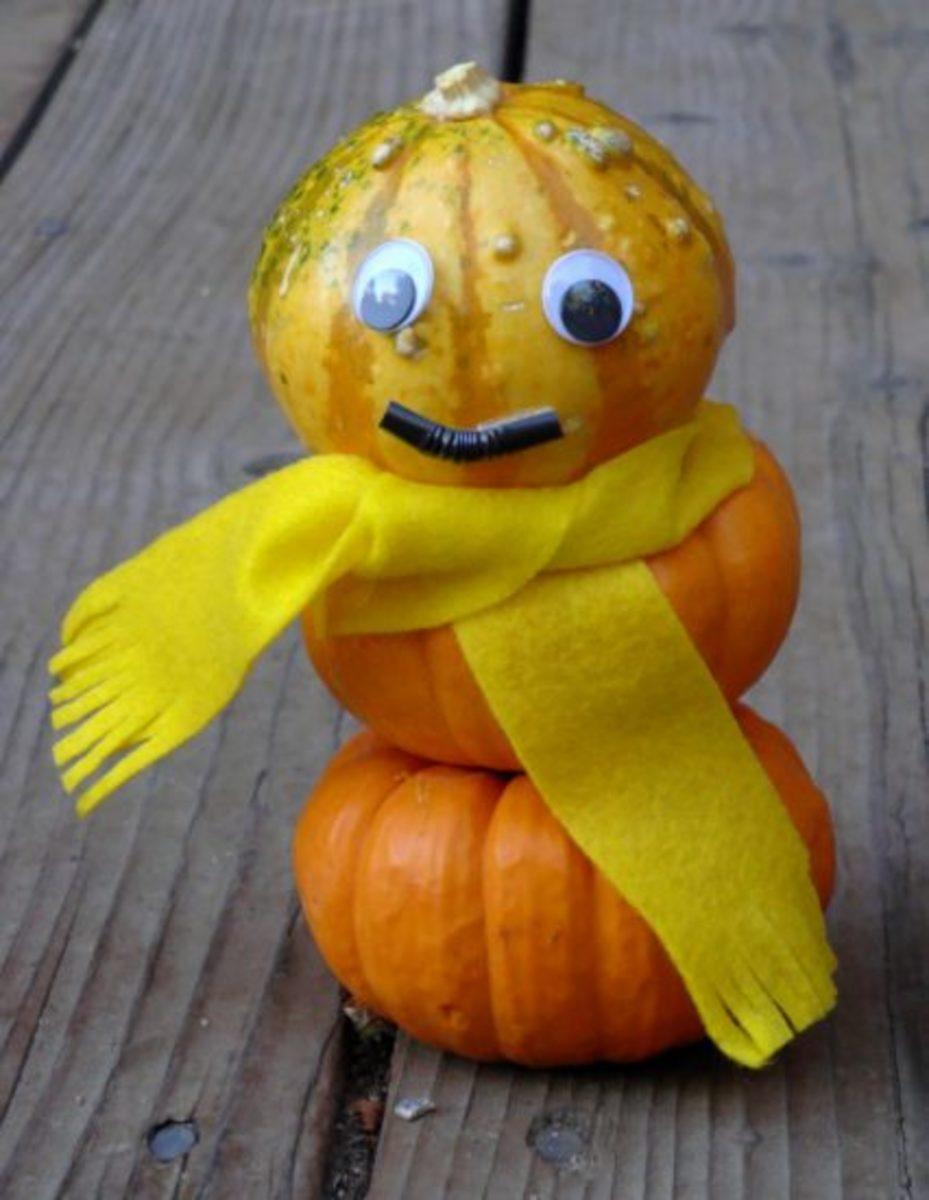 Pumpkin Snowman Copyright 2012 (c) Kirsti A. Dyer