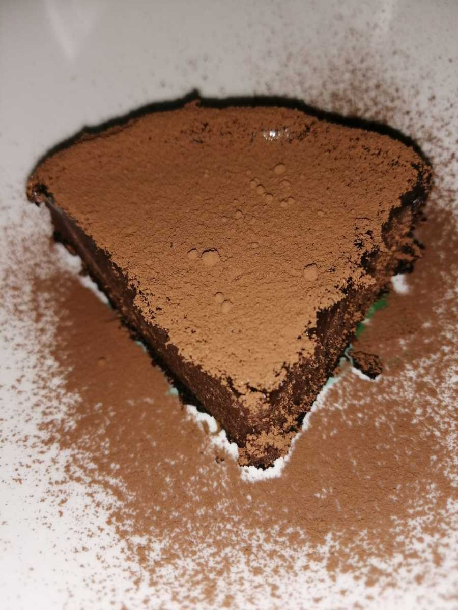 Take the dessert up a notch with unsweetened cocoa powder over the ganache