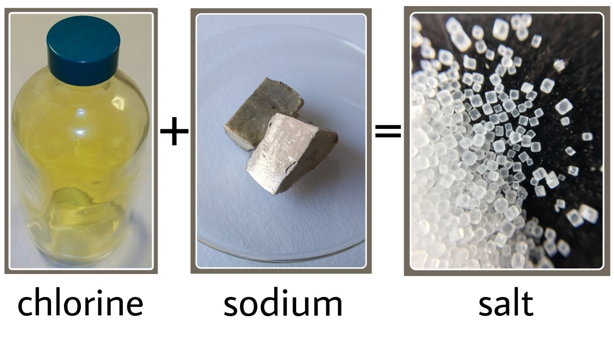 Combining chlorine and sodium produces salt. Salt has very different properties compared to chlorine and sodium, hence it is a kind of chemical change.