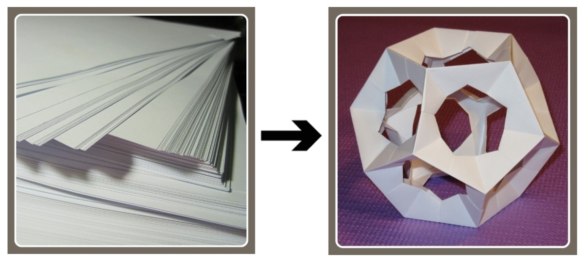 Cutting and folding paper change the size and shape of the paper, but not its composition, hence it is a kind of physical change.
