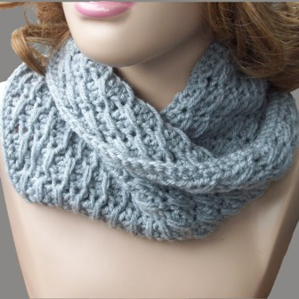 Cross Over Long Double Crochet Cowl