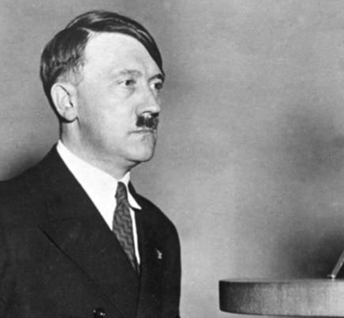 Adolf Hitler about to give a speech in 1933.