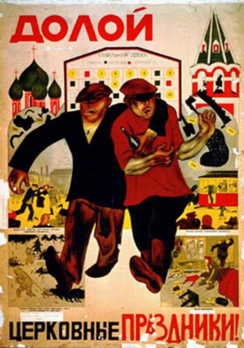 A Soviet anti-religious poster.