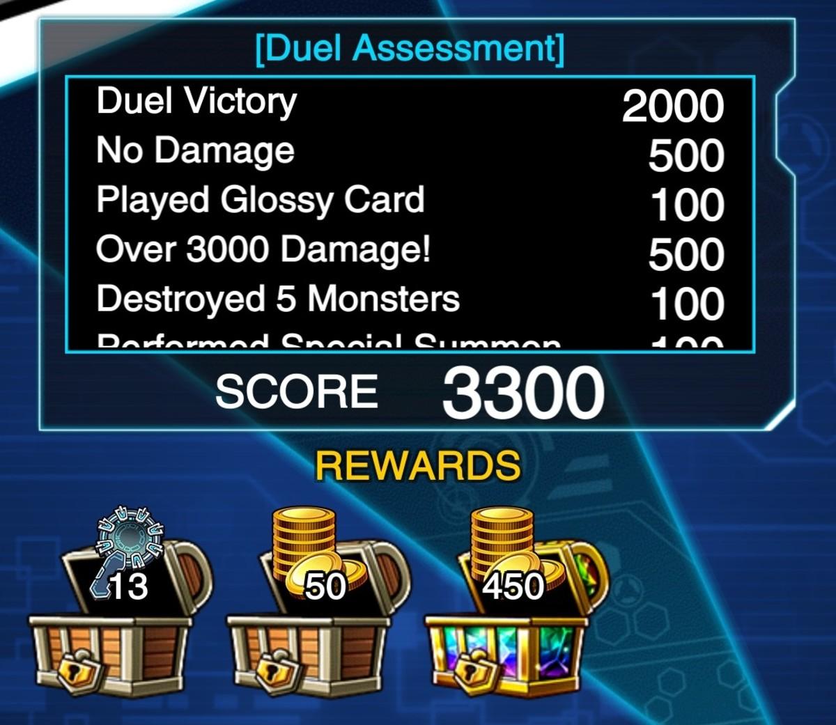 You get one reward drop per 1,000 points.