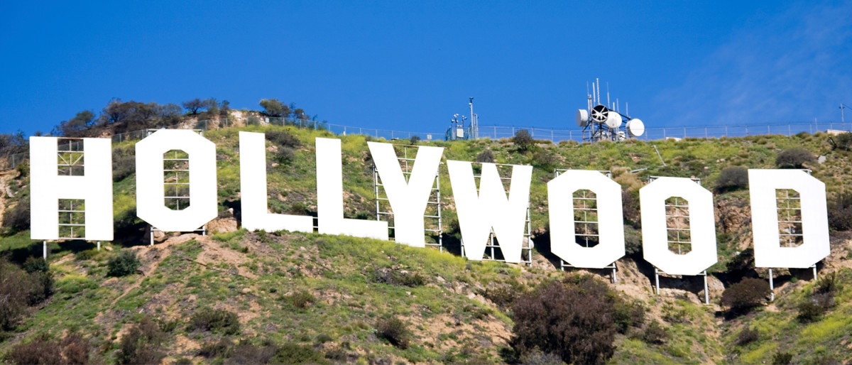 """In 1949, the """"Hollywoodland"""" sign officially became the """"Hollywood"""" sign, when the City of Los Angeles removed """"land"""" from the """"Hollywood"""" sign and rebuilt the """"H."""""""