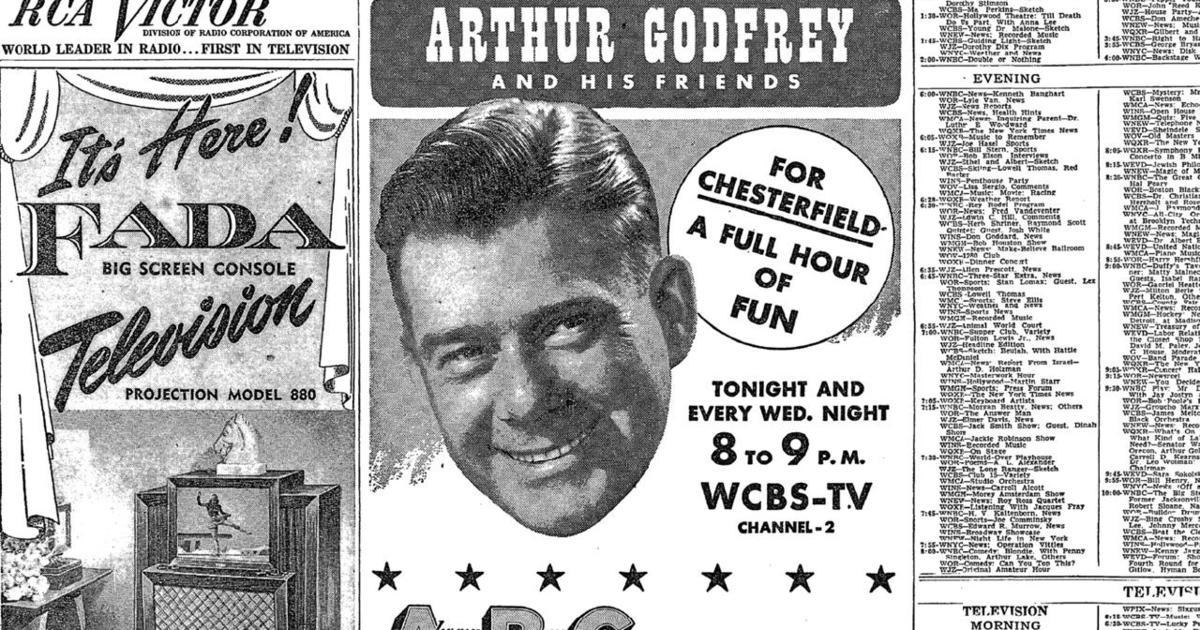 In 1949, the variety show, Arthur Godfrey and His Friends, premiered on CBS, and soon became one of the most popular TV shows.