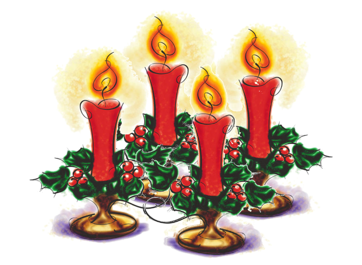 Advent is often celebrated with an advent wreath.