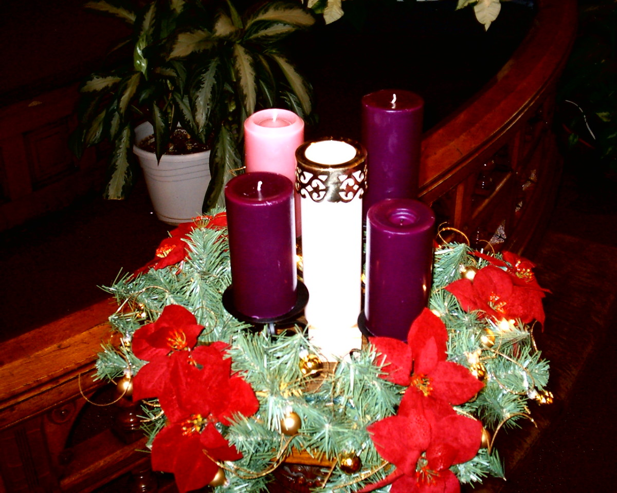 Advent Wreaths are often used to celebrate the season.