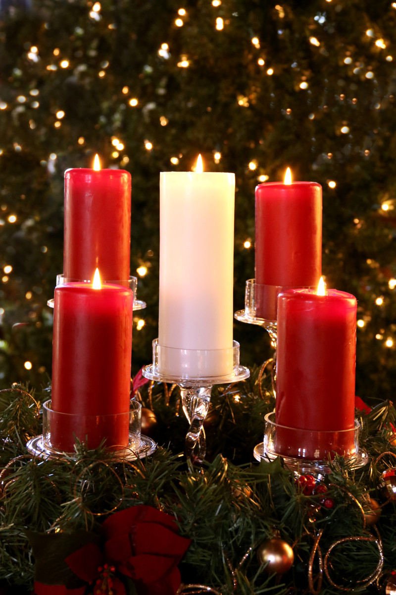Our 2015 Advent Wreath - My favorite Photo!